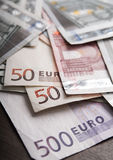 Europeiska unionvaluta Royaltyfria Bilder
