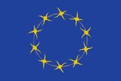 Europeiskt alternativ för facklig flagga Royaltyfri Foto