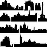 europeiskt berömdt för byggnadsländer mest vektor illustrationer