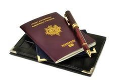 Europeiskt biometric pass royaltyfria bilder