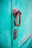 Europeiskt dörrhandtag arkivfoto