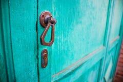 Europeiskt dörrhandtag royaltyfri fotografi