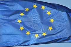 Europeiskt flaggaflyg royaltyfri fotografi