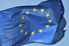 Europeiskt flaggaflyg royaltyfri foto