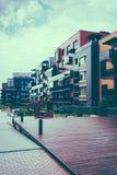 Europeiskt komplex av bostads- byggnader arkivbilder
