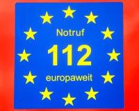 112 europeiskt nöd- nummer Royaltyfri Bild