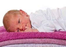 Europeiskt nyfött behandla som ett barn arkivbilder