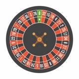 Europeiskt rouletthjul Top beskådar vektor illustrationer