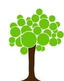 Europeiskt språkträd Eco Tree vektor illustrationer