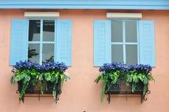 europeiskt stilfönster royaltyfri fotografi