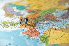 Europeiskt turism- och loppbegrepp arkivfoton