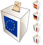 Europeiskt urnasymbol vektor illustrationer
