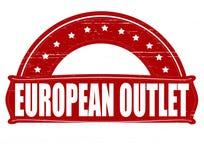 Europeiskt uttag royaltyfri illustrationer