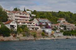 europejczycy adriatic morza Montenegro Kotor zatoka Nadmorski miasteczko blisko góry Strzelający od Lithuania obrazy royalty free