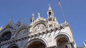 europejczycy Włochy Wenecja Bazylika Di San kościół na St oceny kwadracie zdjęcie wideo