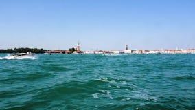 europejczycy Włochy Wenecja Denna trasa Wenecja łodzią w 4k timelapse zbiory