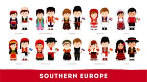 Europejczycy w obywatelu odziewają Południowy Europa