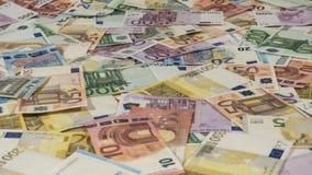 2016 europejczyków rachunki, boczny widok, ostrość na strefie środkowej Obrazy Royalty Free