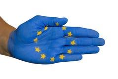Europejczyk flaga Zdjęcia Royalty Free