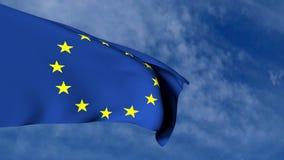 Europejczyk flaga w niebie