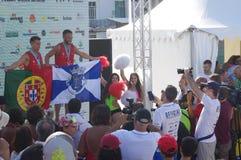 Europejczyk Footvolley Wstawia się ceremonię Zdjęcie Royalty Free