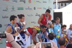 Europejczyk Footvolley Wstawia się ceremonię Obraz Stock