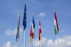 europejczyk zaznacza zjednoczenie Fotografia Royalty Free