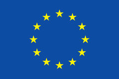 europejczyka chorągwiany zjednoczenie Obrazy Royalty Free