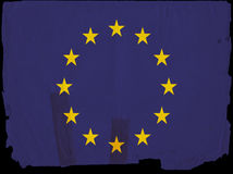 europejczyka rocznik chorągwiany stary zrzeszeniowy Zdjęcia Stock