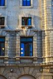 Europejczyka stylu okno i ściana Obraz Royalty Free