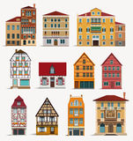 europejscy domy ilustracja wektor