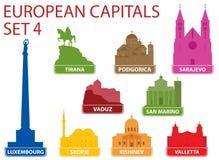 Europejscy kapitały Zdjęcie Royalty Free