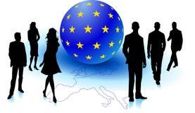 europejscy ludzie royalty ilustracja