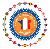 Europejscy określniki Francja 2016 uczestniczy krajów definitywny piłka nożna turniej euro royalty ilustracja