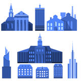 Europejscy Płascy miasto elementy Obrazy Stock