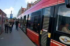 Europejscy ulica transportu ślązaka tramwaje obrazy royalty free
