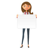Europejska biznesowej kobiety mienia deska wektor Fotografia Royalty Free