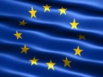 europejska flaga europejskim ilustracja wektor