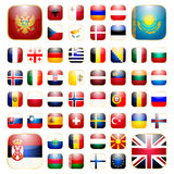 Europejska kontynentu app ikona Fotografia Stock
