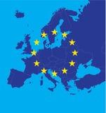 europejska mapa grać główna rolę zjednoczenie Fotografia Stock