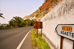 Europejska naturalna wieś w Agaete Gran Canaria Obraz Stock