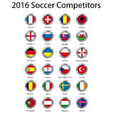 europejska piłka nożna Fotografia Stock