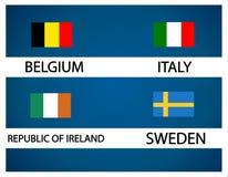 Europejska piłki nożnej filiżanka - Grupowy E Zdjęcie Royalty Free