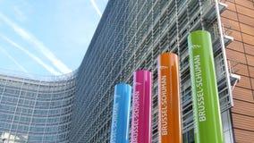 Europejska prowizja W Bruksela, Berlaymont budynek zdjęcie wideo
