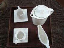 europejska setu stylu herbata Fotografia Royalty Free