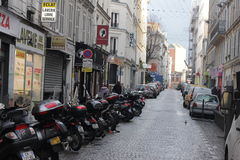 Europejska ulica Zdjęcia Stock