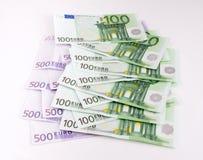 Europejska waluta, euro Fotografia Royalty Free