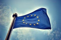 Europejska Zrzeszeniowa flaga Obrazy Royalty Free