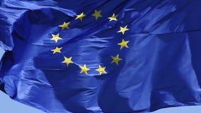 Europejska Zrzeszeniowa flaga zdjęcie wideo