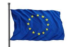 Europejska zrzeszeniowa flaga Fotografia Royalty Free